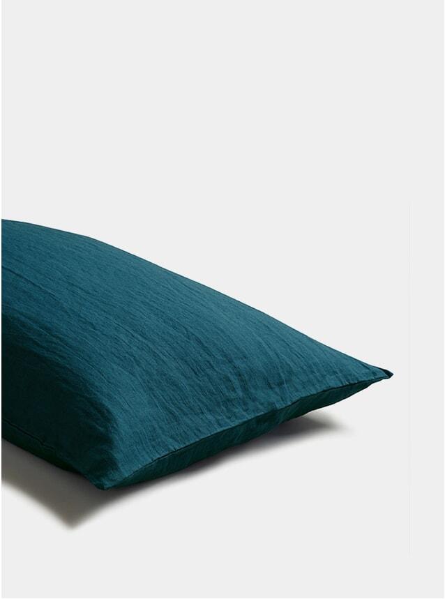 Deep Teal Linen Pillowcase Set of 2