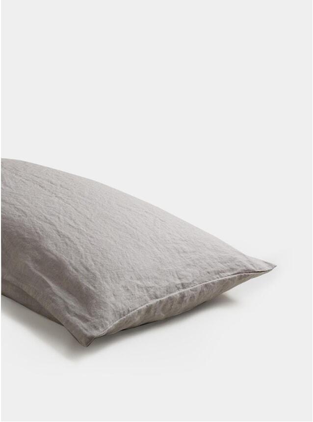Dove Grey Linen Pillowcase Set of 2