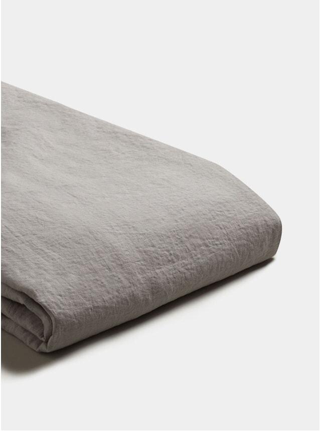 Dove Grey Linen Super King Size Duvet Cover