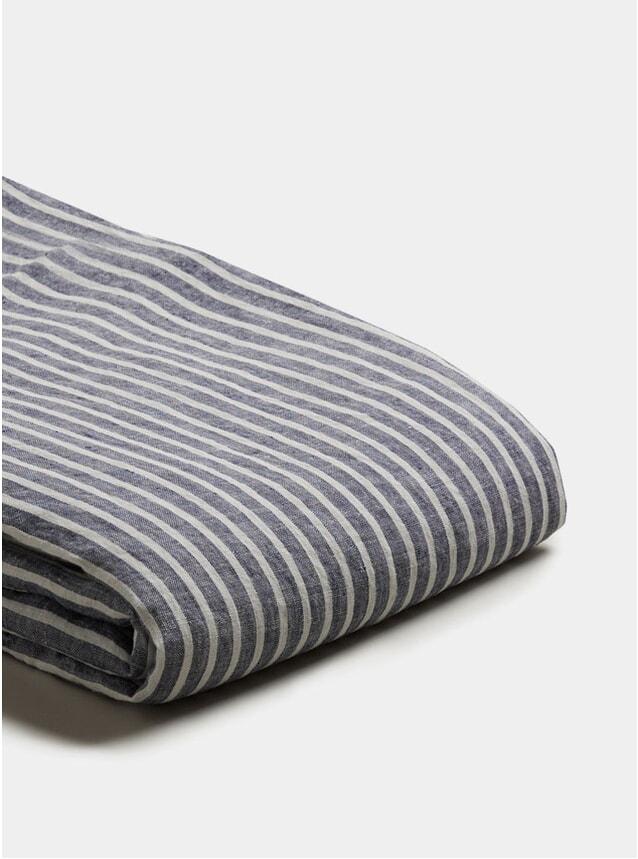 Midnight Stripe Linen Super King Size Duvet Cover
