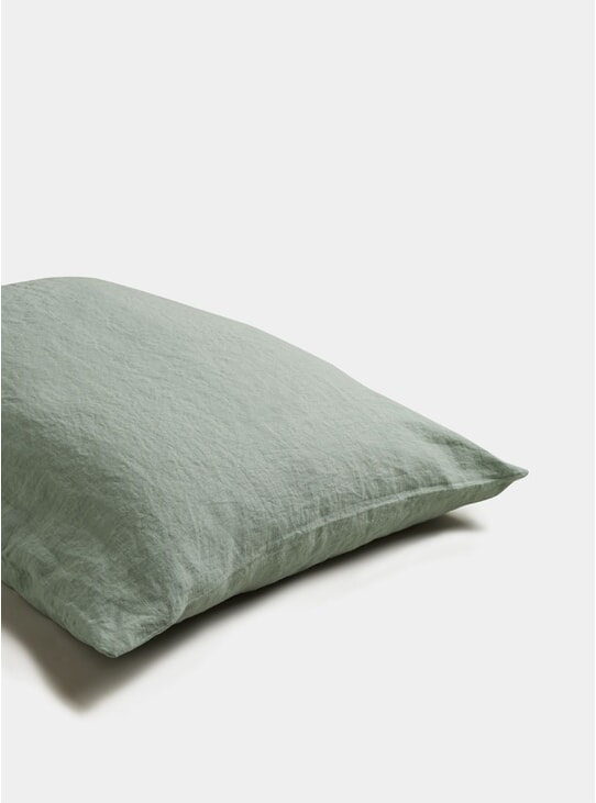 Sage Green Linen Pillowcase Set of 2