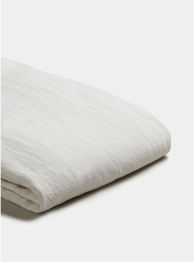 White Linen Single Duvet Cover Set