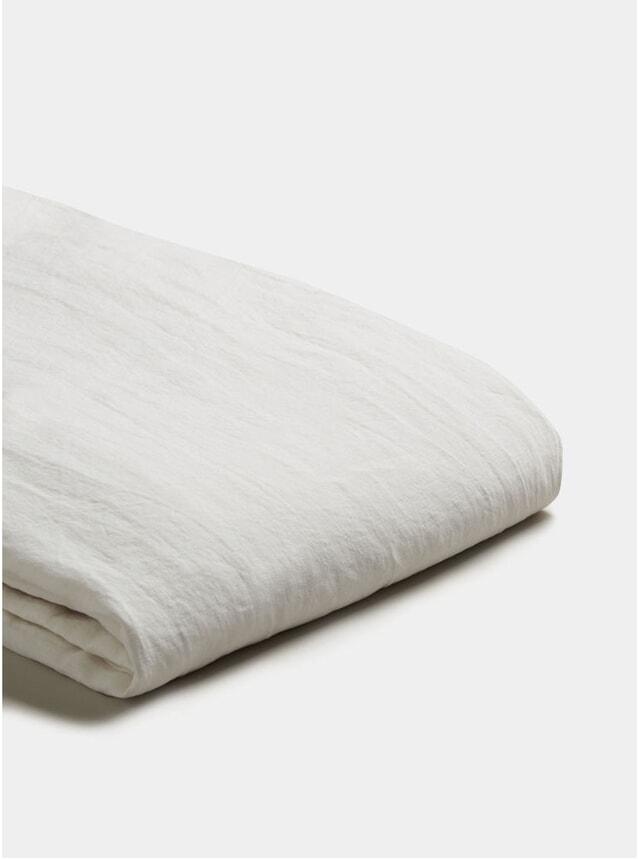 White Linen Super King Size Duvet Cover