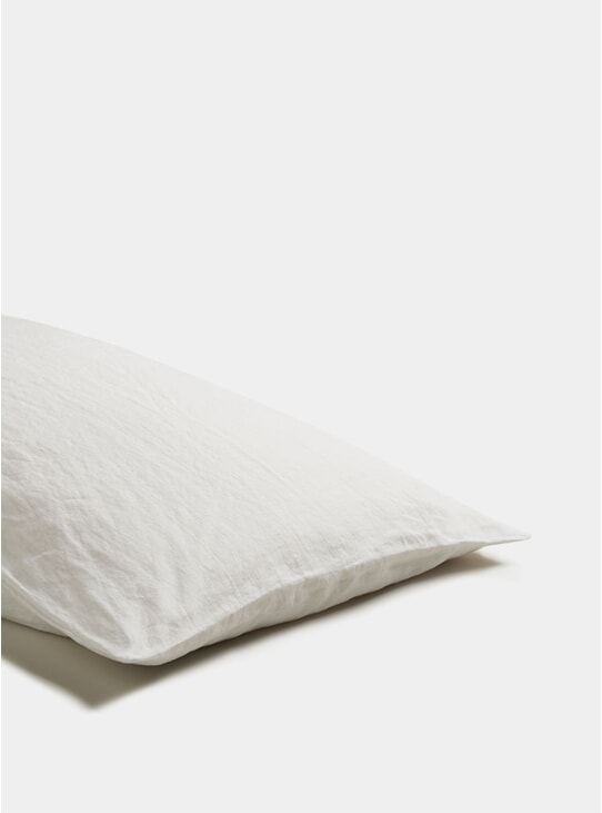 White Linen Pillowcase Set of 2