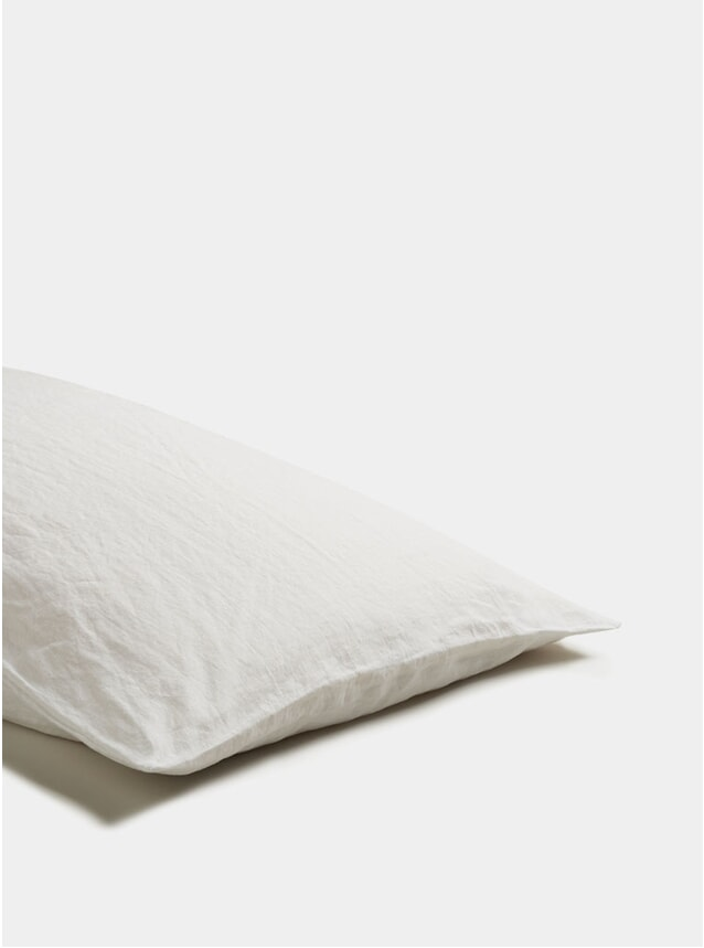 White Linen Pillowcase Set of 2