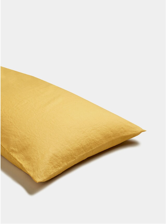 Yellow Linen Pillowcase Set of 2