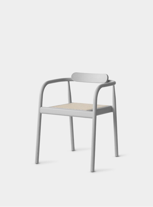 Ash Grey / Cane AHM Chair