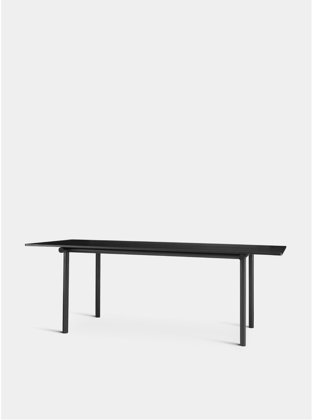 Stained Black / Anodized Aluminum Tubby Tube Table