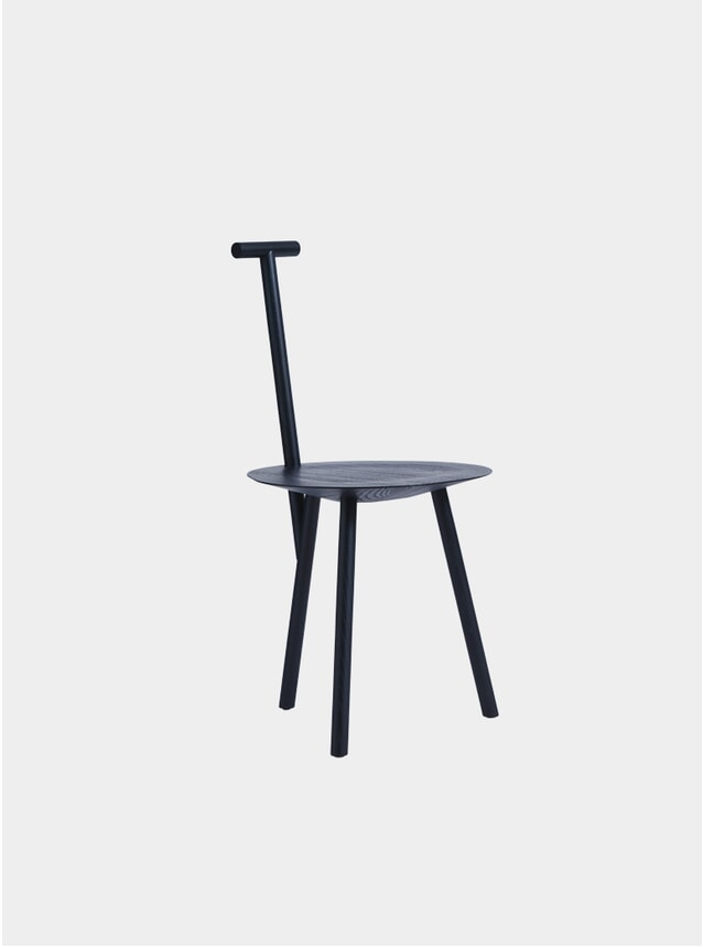 Stained Navy Blue Spade Chair