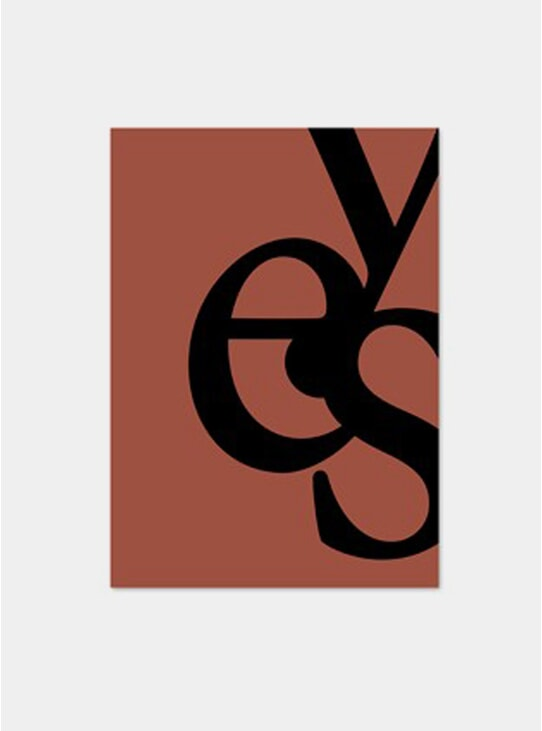 Black Yes Poster
