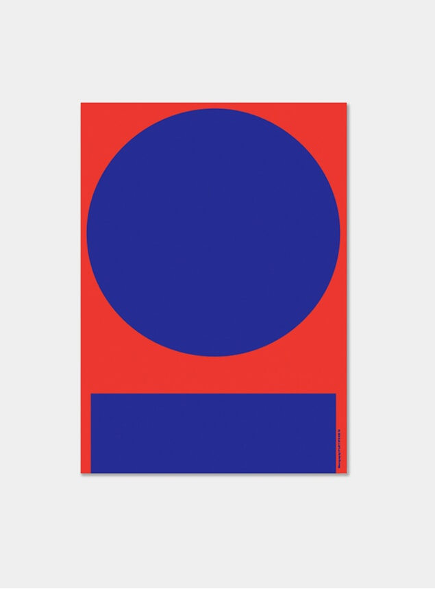 Red & Blue In and Out Poster