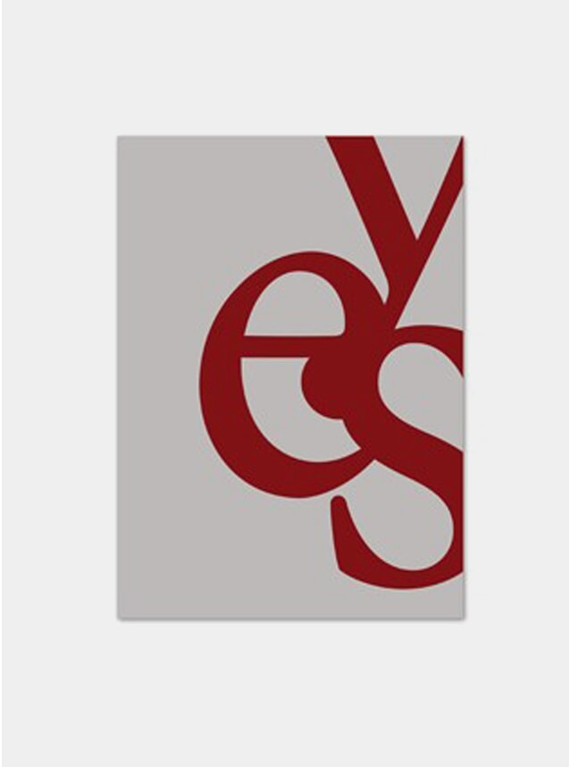 Red Yes Poster