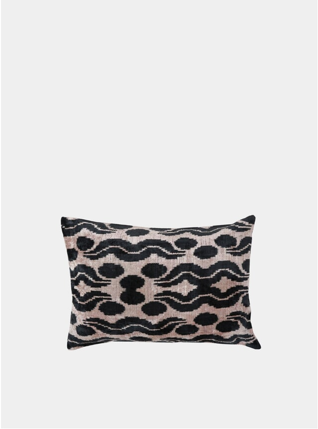 Bergamot Ikat Velver Cushion cover