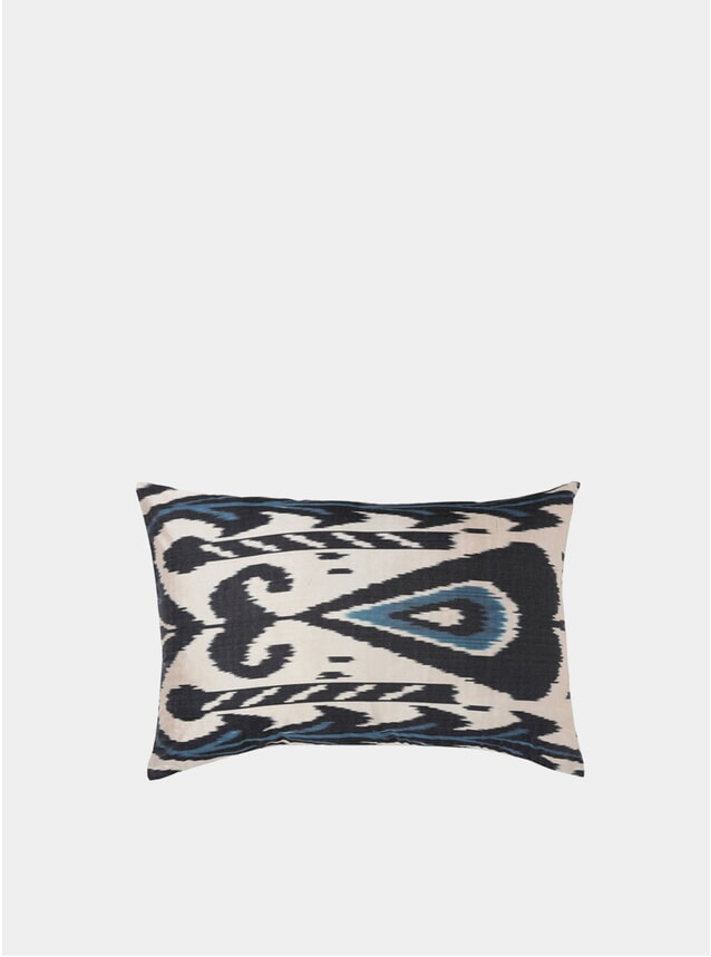 Ramson Ikat Silk Cushion Cover