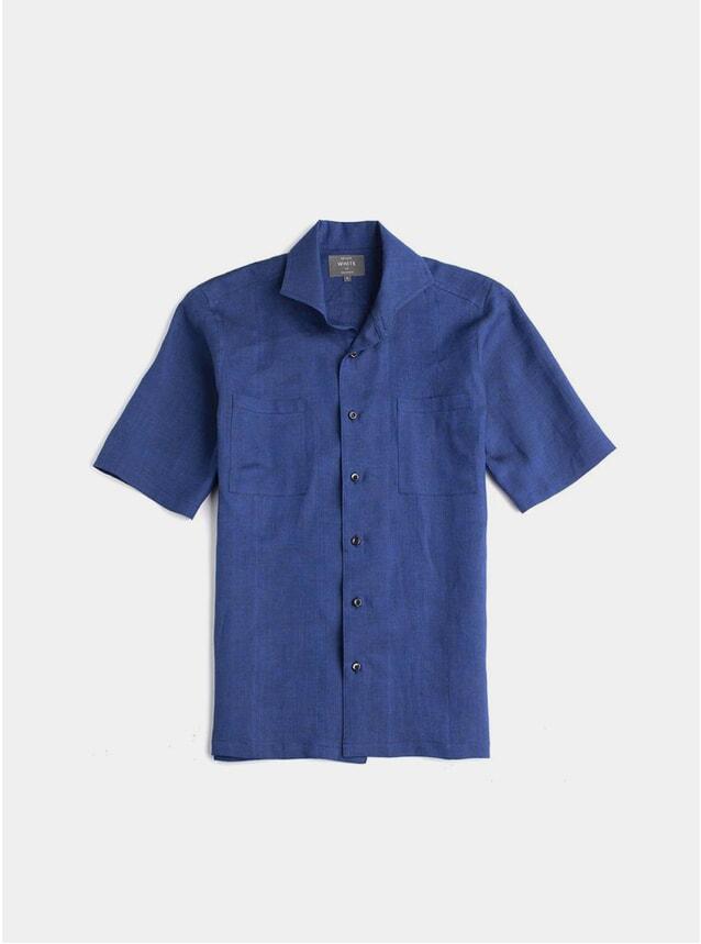 Blue Linen Maxwell SS Shirt