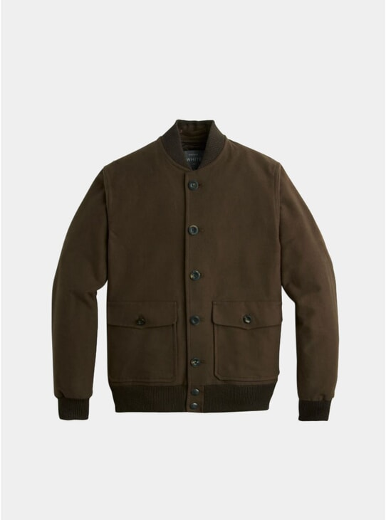 Brown Moleskin Bomber