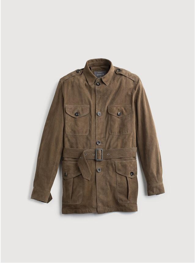 Brown Suede Safari Jacket
