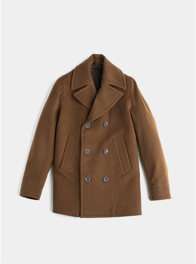 Camel Cashmere Deluxe Peacoat