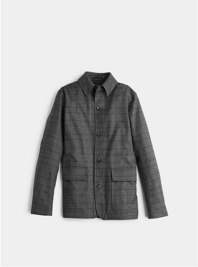 Charcoal Check Loro Piana Shaket