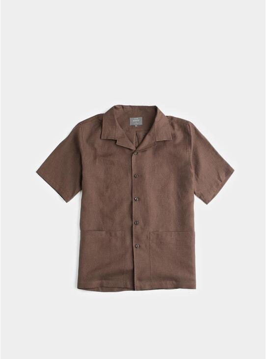 Chocolate Linen Sun Shirt
