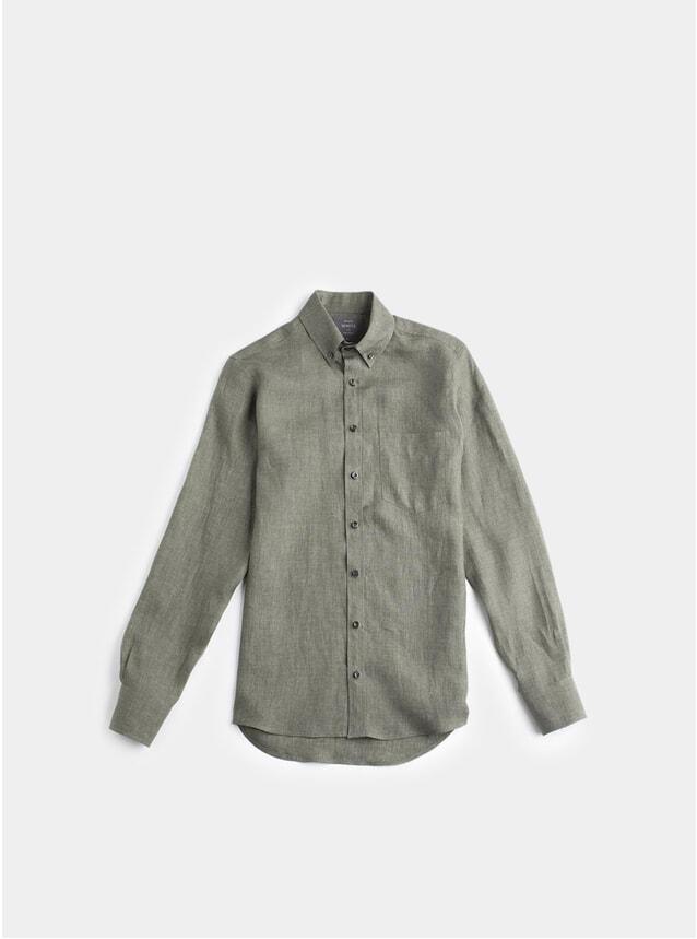 Green Linen William Button Down Shirt