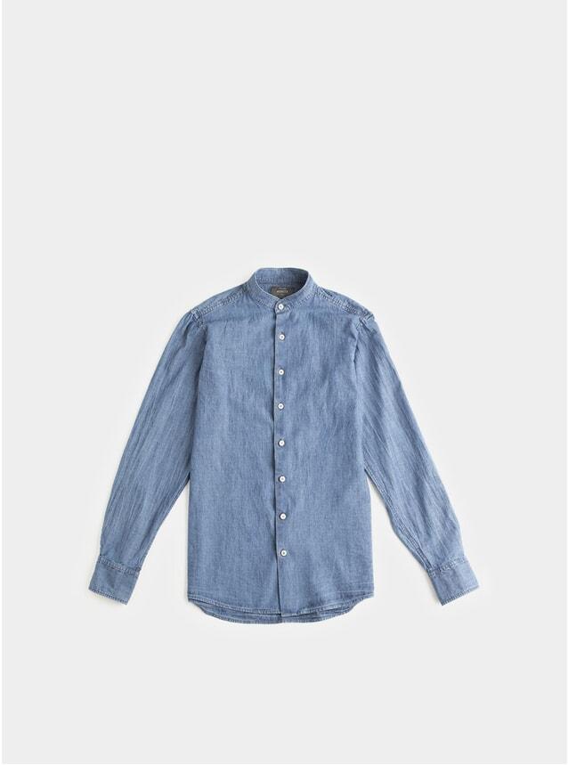 Japanese Denim Grandad Shirt