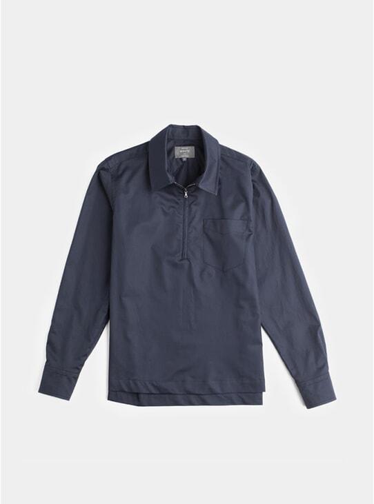 Navy Half Zip Cabin Shirt