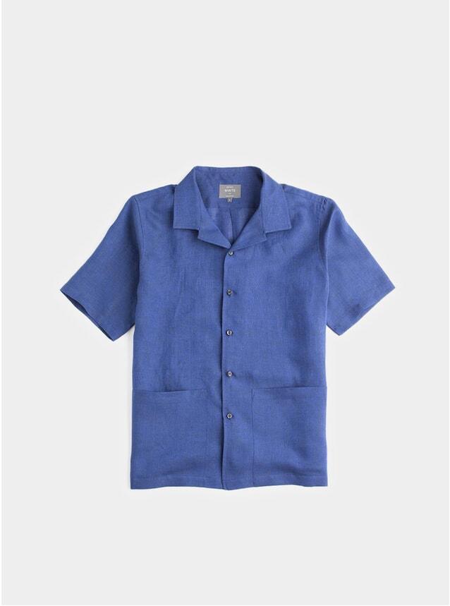 Navy Linen Sun Shirt