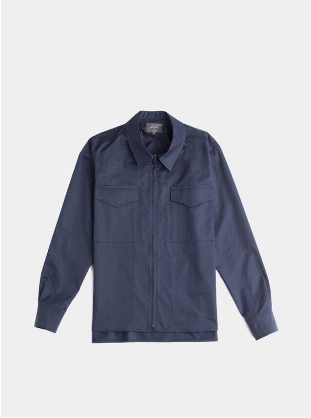 Navy Zip Through Cabin Shirt