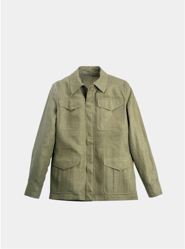 Olive Linen Field Jacket