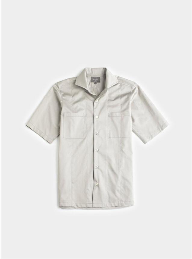 Stone Grey Cotton SS Shirt