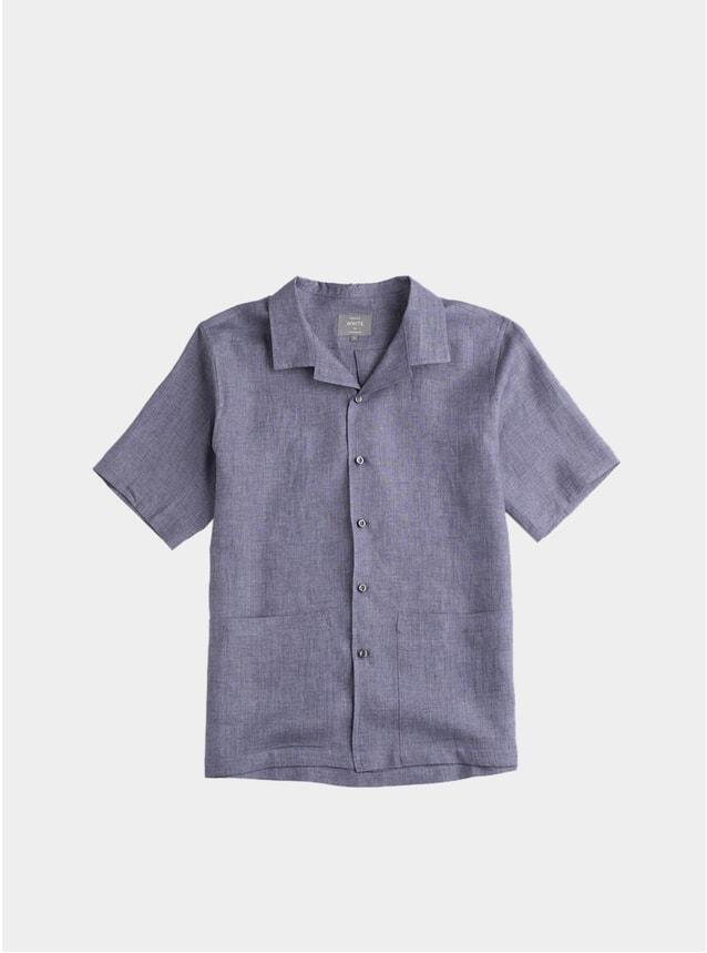 Storm Grey Linen Sun Shirt