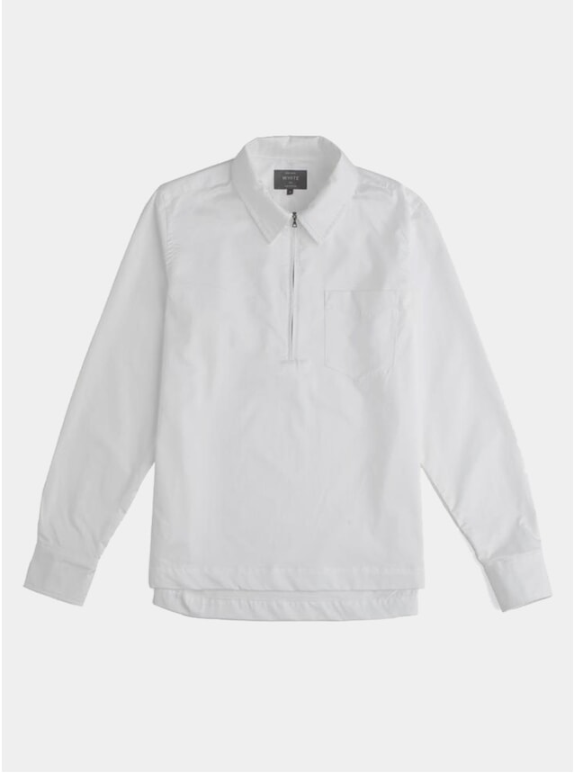White Half Zip Cabin Shirt