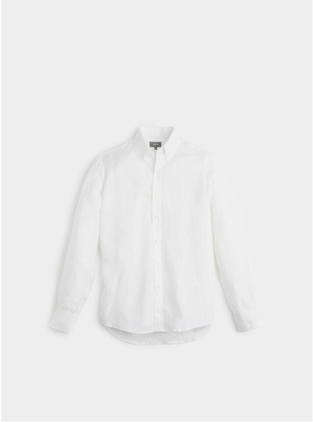 White Linen Button Down Shirt
