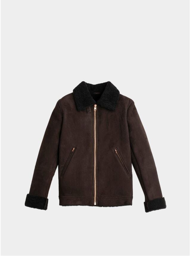 Brown Deluxe Shearling Flight Jacket