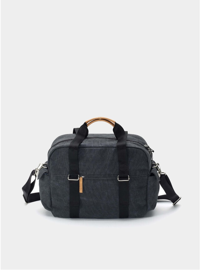 Washed Black Overnighter Bag