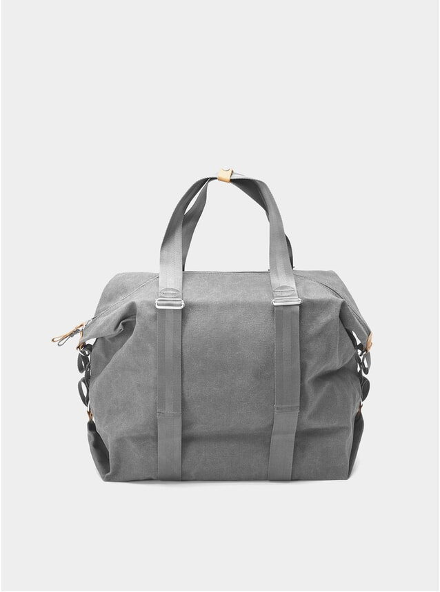 Washed Grey Simple Holdall