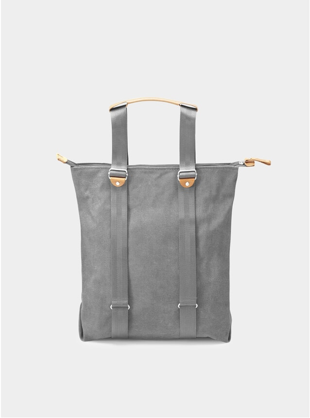 Washed Grey Simple Zipshopper