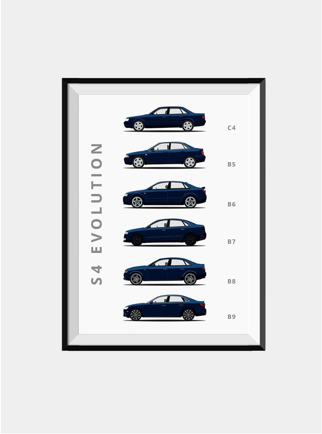 Audi S4 Car Print