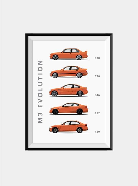 BMW M3 Car Print