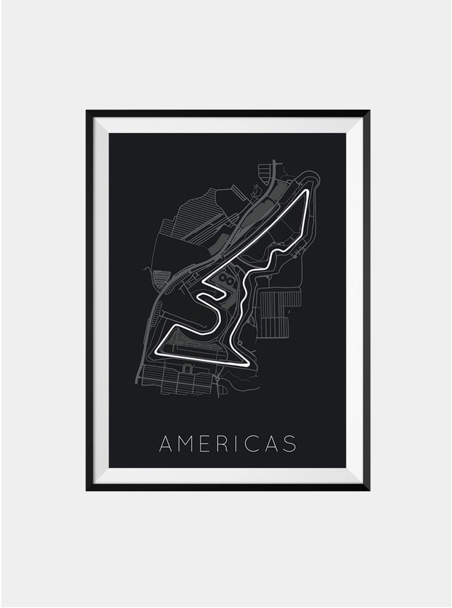 Circuit of the Americs Print