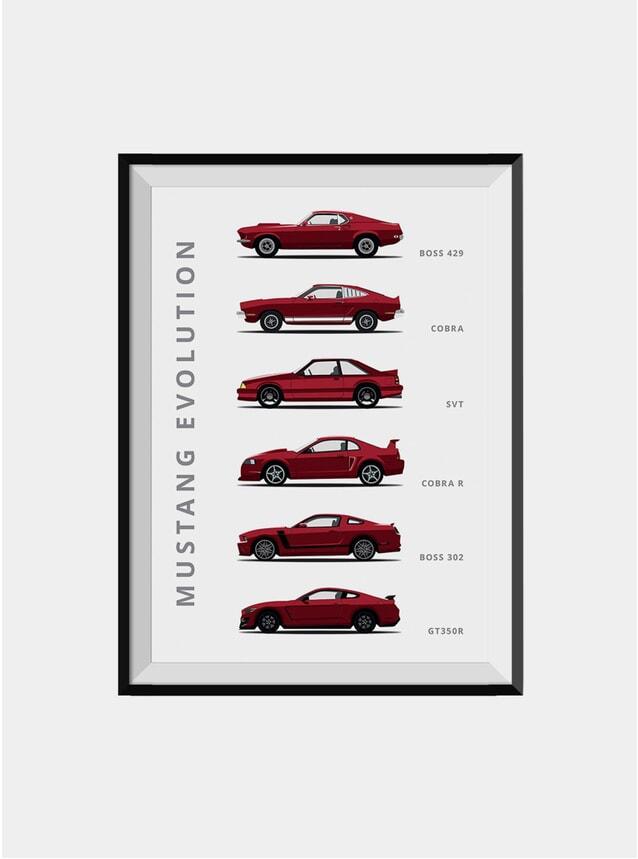 Ford Mustang Car Print