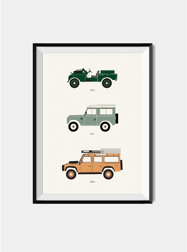 The British Workhorse Defender Print
