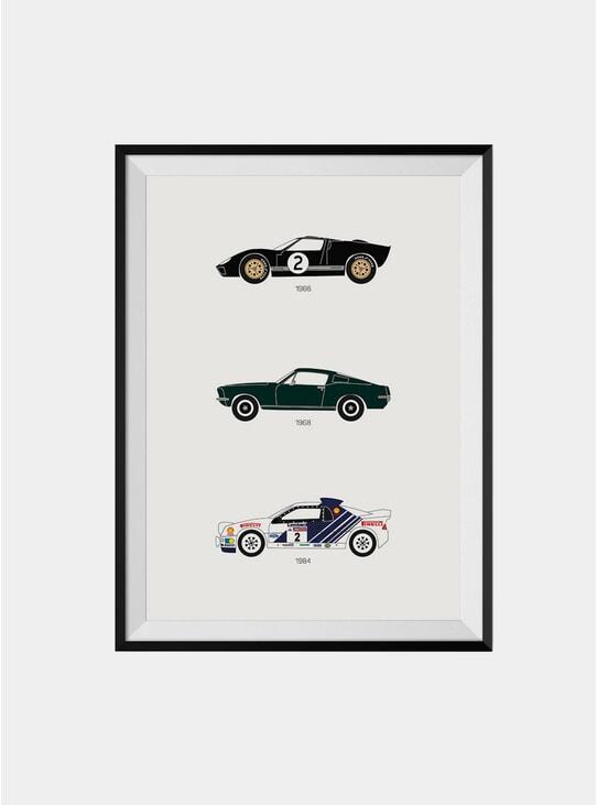 Track Legends & Movie Stars Ford Print