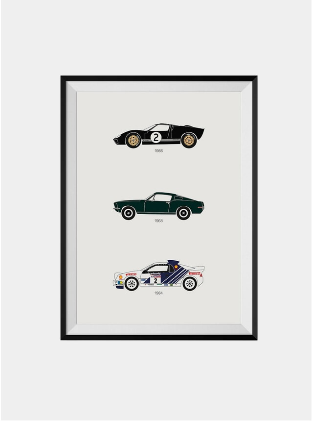 Track Legends & Movie Stars Ford Print