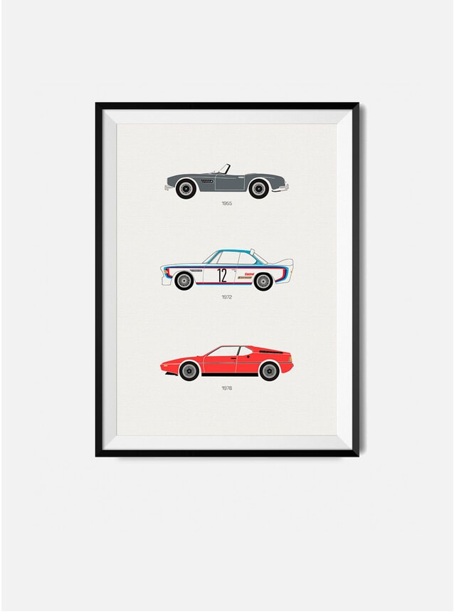 The Iconic BMW Car Print