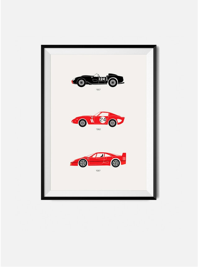The Iconic Ferrari Car Print