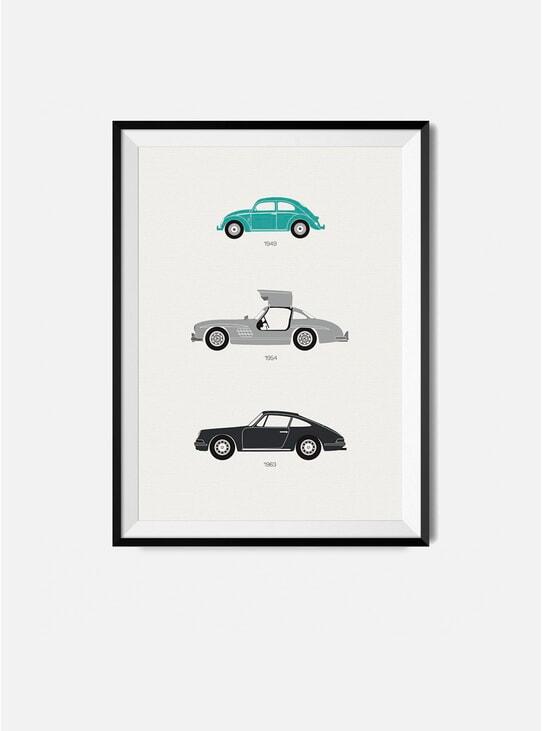 The Iconic German Car Print