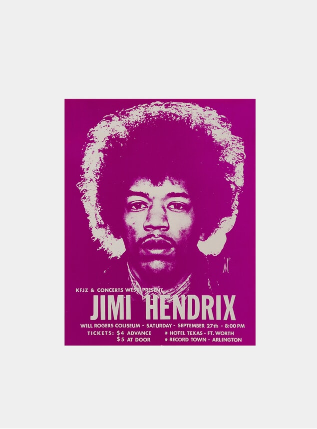 Jimi Hendrix, 1969 Original Poster