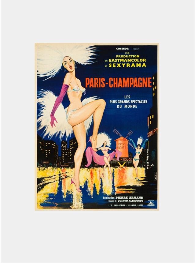 Paris-Champagne, 1964 Original Poster